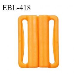 Boucle clip 30 mm attache réglette pvc spécial maillot de bain couleur mangue haut de gamme prix à l'unité