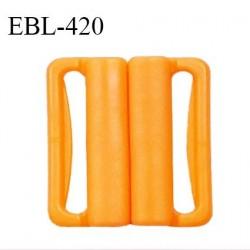 Boucle clip 20 mm attache réglette pvc spécial maillot de bain couleur mangue haut de gamme prix à l'unité