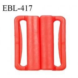 Boucle clip 20 mm attache réglette pvc spécial maillot de bain couleur coquelicot haut de gamme prix à l'unité
