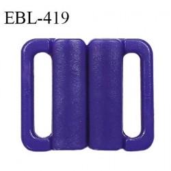 Boucle clip 16 mm attache réglette pvc spécial maillot de bain couleur bleuet haut de gamme prix à l'unité