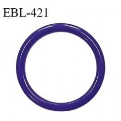 Anneau de réglage 16 mm en pvc couleur bleuet diamètre intérieur 16 mm diamètre extérieur 22 mm épaisseur 3 mm prix à l'unité
