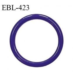 Anneau de réglage 15 mm en pvc couleur bleuet diamètre intérieur 15 mm diamètre extérieur 20 mm épaisseur 3 mm prix à l'unité