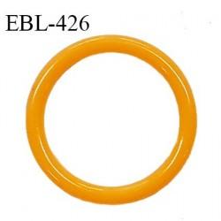 Anneau de réglage 13 mm en pvc couleur mangue diamètre intérieur 13 mm diamètre extérieur 17 mm épaisseur 2 mm prix à l'unité