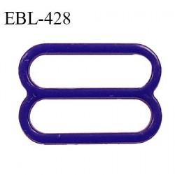 Réglette 18 mm de réglage de bretelle pour soutien gorge et maillot de bain en pvc couleur bleuet prix à l'unité