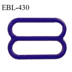 Réglette 16 mm de réglage de bretelle pour soutien gorge et maillot de bain en pvc couleur bleuet prix à l'unité