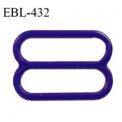 Réglette 14 mm de réglage de bretelle pour soutien gorge et maillot de bain en pvc couleur bleuet prix à l'unité