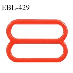 Réglette 18 mm de réglage de bretelle pour soutien gorge et maillot de bain en pvc couleur coquelicot prix à l'unité