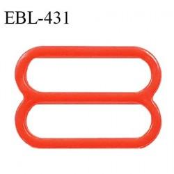 Réglette 16 mm de réglage de bretelle pour soutien gorge et maillot de bain en pvc couleur coquelicot prix à l'unité