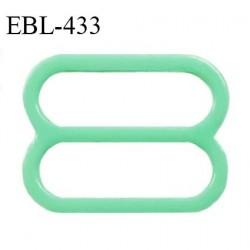 Réglette 18 mm de réglage de bretelle pour soutien gorge et maillot de bain en pvc couleur vert prix à l'unité