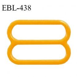 Réglette 14 mm de réglage de bretelle pour soutien gorge et maillot de bain en pvc couleur mangue prix à l'unité