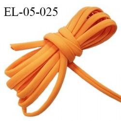 Cordon élastique 5 mm ou cache armature underwire casing galon couleur mangue lycra extensible diamètre 5 mm prix au mètre