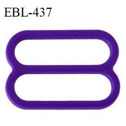 Réglette 16 mm de réglage de bretelle pour soutien gorge et maillot de bain en pvc couleur violet (iris) prix à l'unité