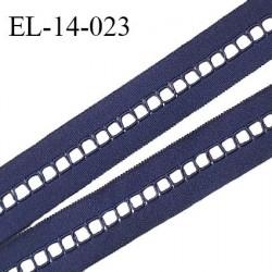 Elastique 14 mm lingerie entre-deux couleur bleu astral haut de gamme largeur 14 mm prix au mètre