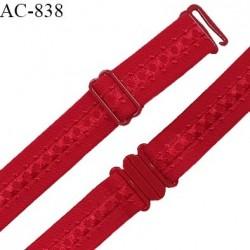 Bretelle lingerie SG 19 mm très haut de gamme couleur fuchsia avec 1 barrette + 1 crochet + 1 boucle clip
