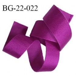 Devant bretelle 22 mm attache bretelle rigide pour anneaux couleur pivoine satiné haut de gamme très solide prix au mètre