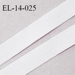 Elastique lingerie 14 mm petit grain couleur blanc haut de gamme largeur 14 mm prix au mètre