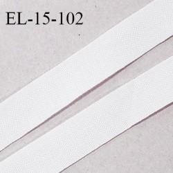 Elastique lingerie 16 mm petit grain couleur blanc haut de gamme largeur 16 mm prix au mètre