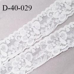 Dentelle 40 mm lycra extensible couleur blanc largeur 40 mm prix au mètre