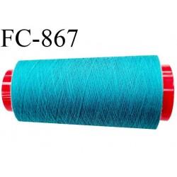 CONE 2000 m fil Polyester Coats épic fil n°120 couleur bleu 2000 m bobiné en France résistance à la cassure 1000 grammes