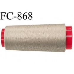 Cone de fil 2000 m mousse polyester n° 160 polyester couleur marron glacé  longueur 2000  mètres bobiné en France