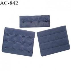 Agrafe 76 mm attache SG haut de gamme couleur encre bleue 3 rangées 4 crochets fabriqué en France prix à l'unité