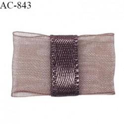 Noeud lingerie 20 mm haut de gamme en mousseline mate et centre satin couleur macchiato largeur 20 mm prix à l'unité