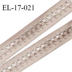 Elastique 16 mm bretelle et lingerie couleur rose sauvage fabriqué en France pour une grande marque largeur 16 mm prix au mètre
