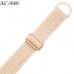 Bretelle lingerie SG 19 mm très haut de gamme couleur champagne rosé avec 1 barrette et 1 anneau prix à l'unité