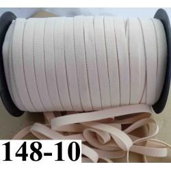 élastique plat largeur 10 mm couleur poudre beige vendu au mètre
