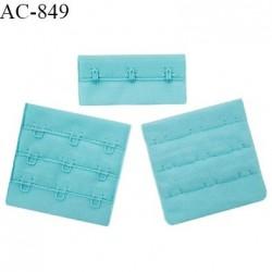 Agrafe 57 mm attache SG haut de gamme couleur bleu horizon 3 rangées 3 crochets fabriqué en France prix à l'unité