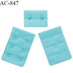 Agrafe 38 mm attache SG haut de gamme couleur bleu horizon 3 rangées 2 crochets fabriqué en France prix à l'unité