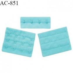 Agrafe 76 mm attache SG haut de gamme couleur bleu horizon 3 rangées 4 crochets fabriqué en France prix à l'unité