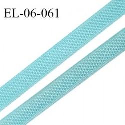 Elastique 6 mm fin spécial lingerie polyamide élasthanne couleur bleu horizon grande marque fabriqué en France prix au mètre