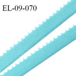 Elastique 9 mm bretelle et lingerie couleur bleu horizon largeur 9 mm haut de gamme Fabriqué en France prix au mètre