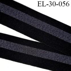 élastique 30 mm spécial lingerie, sport  caleçon couleur noir et gris oeko-tex prix au mètre