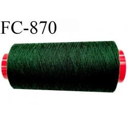 Cone de 1000 m  fil Polyester Coats épic fil n° 30 couleur vert bouteille clair longueur de 1000 mètres bobiné en France