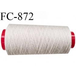 Cone de 2000 m  fil Polyester Coats épic fil n° 30 couleur mastic longueur de 2000 mètres bobiné en France