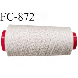 Cone de 5000 m  fil Polyester Coats épic fil n° 30 couleur mastic longueur de 5000 mètres bobiné en France