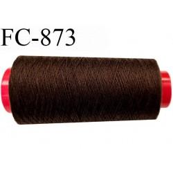 Cone de 5000 m  fil Polyester Coats épic fil n° 30 couleur marron longueur de 5000 mètres bobiné en France