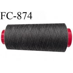 Cone de 1000 m  fil Polyester Coats épic fil n° 30 couleur gris longueur de 1000 mètres bobiné en France