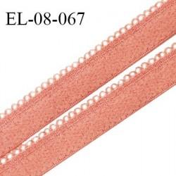Elastique picots 8 mm lingerie couleur rose mistinguette largeur 8 mm haut de gamme Fabriqué en France prix au mètre