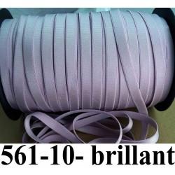 élastique plat largeur 10 mm couleur lilas brillant + épais vendu au mètre