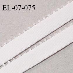 Elastique 7 mm bretelle et lingerie couleur lys largeur 7 mm haut de gamme Fabriqué en France prix au mètre