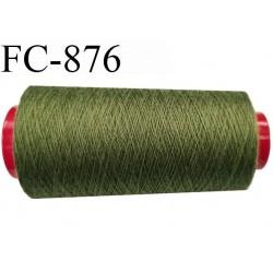 Cone de 2000 m  fil Polyester Coats épic fil n° 30 couleur vert kaki clair longueur de 2000 mètres bobiné en France