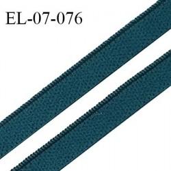 Elastique lingerie 7 mm couleur bleu vert haut de gamme Fabriqué en France largeur 7 mm prix au mètre