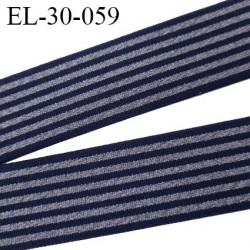 élastique 30 mm spécial lingerie, sport  caleçon couleur bleu marine et gris oeko-tex haut de gamme prix au mètre