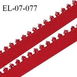 Elastique 7 mm lingerie haut de gamme fabriqué en France élastique souple couleur rouge passion prix au mètre