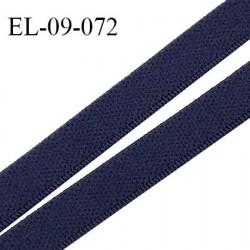 Elastique 9 mm lingerie couleur bleu marine (outremer) largeur 9 mm haut de gamme Fabriqué en France prix au mètre