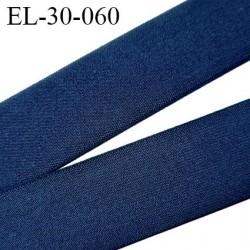 élastique 30 mm spécial lingerie, sport  caleçon couleur bleu marine oeko-tex haut de gamme prix au mètre