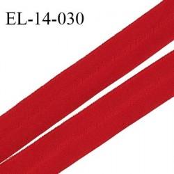 Elastique lingerie 14 mm pré plié haut de gamme fabriqué en France couleur rouge scarlet largeur 14 mm prix au mètre